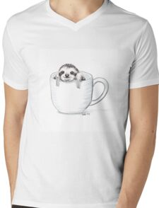 Sloth in a Cup Mens V-Neck T-Shirt