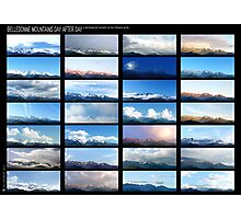 Belledonne day after day, a motionless voyage in Alps Photographic Print