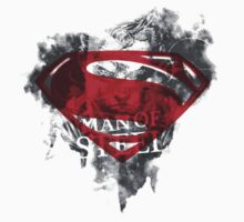 Man of steel symbol by borntodesign