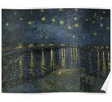 Vincent Van Gogh - Starry Night, Impressionism .Starry Night, 1888 Poster