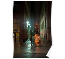 Alley On John Street In The Rain Poster