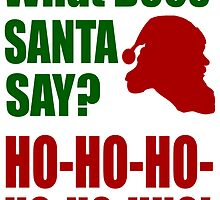 What does Santa Say? by beggr