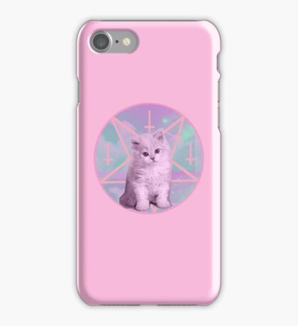 Satan and his Kitty, pastel pink. iPhone Case/Skin