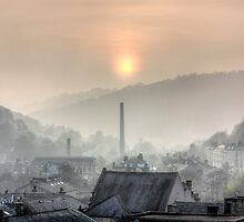 Sunset Hebden Bridge by fotohebden