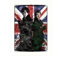 Sherlock & Watson Art Print