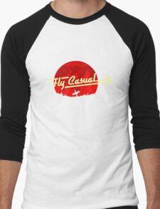 Fly Casual Men's Baseball ¾ T-Shirt