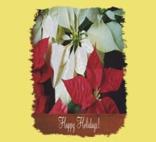 Mixed Color Poinsettias 2 Happy Holidays S1F1 Kids Tee