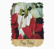 Mixed Color Poinsettias 2 Happy Holidays S2F1 One Piece - Short Sleeve