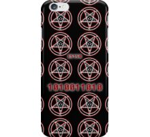 8 Bit Baphomet Pentagram  iPhone Case/Skin