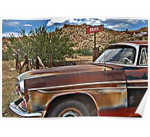 Corner of Brake and BurmaShave on Route 66 Poster
