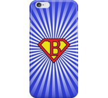 B letter in Superman style iPhone Case/Skin