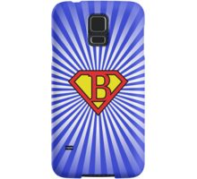 B letter in Superman style Samsung Galaxy Case/Skin