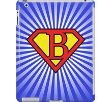 B letter in Superman style iPad Case/Skin