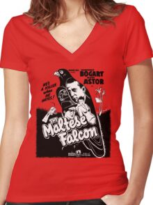 The Maltese Falcon Women's Fitted V-Neck T-Shirt