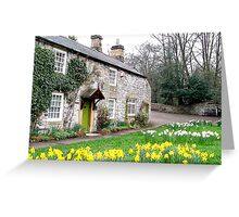 Cottage at Ashford-in-the-Water Greeting Card