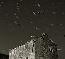 Ruined Farm and Star Trails by fotohebden