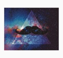 Galaxy Moustache Triangle by Rob DelZotto
