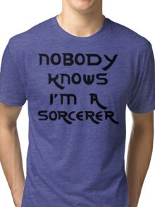 Nobody knows I'm a sorcerer - 3 Tri-blend T-Shirt