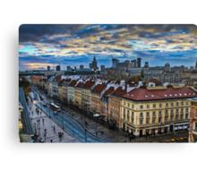 Warsaw City Skyline Canvas Print