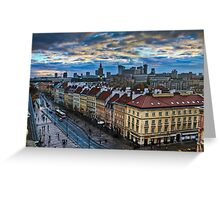 Warsaw City Skyline Greeting Card