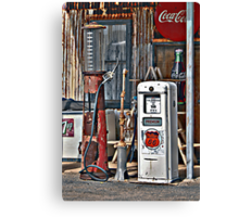 CocoCola 7Up and Gas Canvas Print