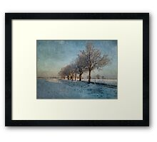 The Slow Freeze Framed Print