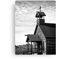 Church on the Mount in Black and White Canvas Print
