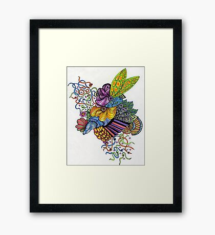 Coloured Zoodle 2 Framed Print