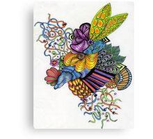 Coloured Zoodle 2 Canvas Print