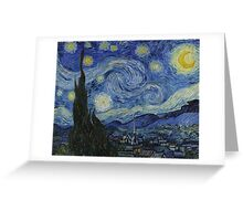 Vincent Van Gogh - Starry Night,  Impressionism .Starry Night, 1889 Greeting Card