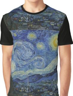 Vincent Van Gogh - Starry Night,  Impressionism .Starry Night, 1889 Graphic T-Shirt