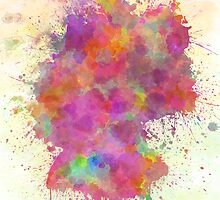 Germany map watercolor style splash by paulrommer
