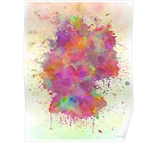 Germany map watercolor style splash Poster