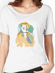 Patterned hair Women's Relaxed Fit T-Shirt