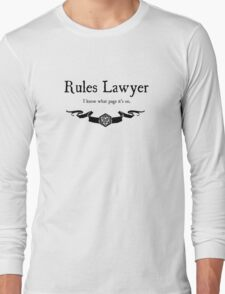 DnD Rules Lawyer Long Sleeve T-Shirt
