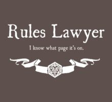 DnD Rules Lawyer - for Dark Shirts by Serenity373737
