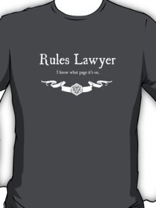 DnD Rules Lawyer - for Dark Shirts T-Shirt