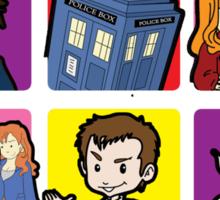 Doctor Squares Sticker