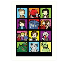 Doctor Squares Art Print
