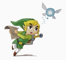 Link flying by Hyruler