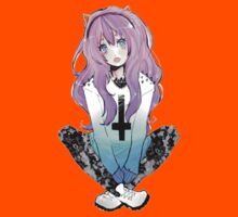 Pastel Goth Anime Girl Kids Clothes