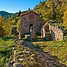 Saint Christopher little church in Mystras, Peloponnese by Konstantinos Arvanitopoulos