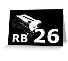 RB26 engine Greeting Card