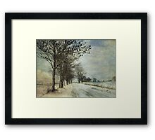 Into the cold distance Framed Print