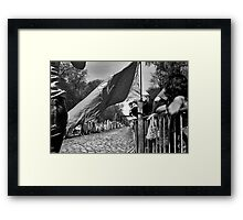 Trouée d'Arbre Framed Print