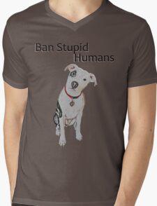 Ban Stupid Humans Mens V-Neck T-Shirt