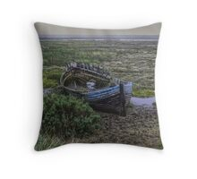 Old Wreck Throw Pillow