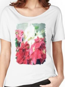 Mixed color Poinsettias 3 Angelic Women's Relaxed Fit T-Shirt