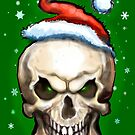 Evil Christmas Skull by Kevin Middleton