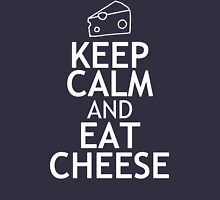 KEEP CALM AND EAT CHEESE Womens Fitted T-Shirt